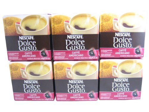 Dolce Gusto Caffe Americano Capsules For The Dolce Gusto Machine By Nescafe (Case of 6 packages; 96 Capsules Total) - http://thecoffeepod.biz/dolce-gusto-caffe-americano-capsules-for-the-dolce-gusto-machine-by-nescafe-case-of-6-packages-96-capsules-total/