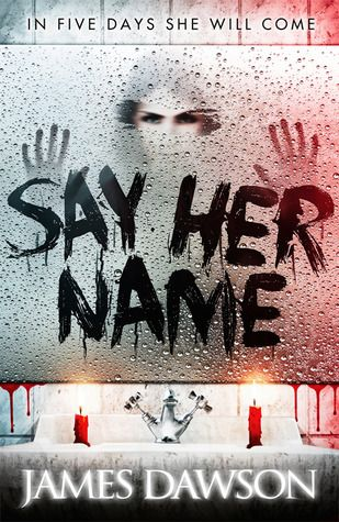 Cover Reveal: Say Her Name by James Dawson  -On sale June 5th 2014 by Hot Key Books -Roberta 'Bobbie' Rowe is not the kind of person who believes in ghosts. A Halloween dare at her ridiculously spooky boarding school is no big deal, especially when her best friend Naya and cute local boy Caine agree to join in too. They are ordered to summon the legendary ghost of 'Bloody Mary': say her name five times in front of a candlelit mirror, and she shall appear...