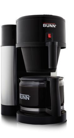 Bunn NHBX-B 10-Cup Coffee Maker - Black and Stainless Steel