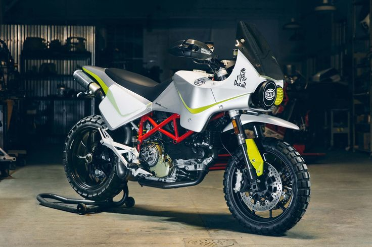 YES PLEASE!!  This Dakar Rally inspired Ducati Hypermotard is the latest creation from Walt Siegl Motorcycles, and it comes with some very appropriate timing. Not only are we full-swing into the 2017 Dakar Rally, but this 1980s-styled Ducati comes during a week where we have been talking about my not-so-secret love affair with the Ducati Hypermotard. Again, we see the air-cooled version of this street-going supermoto being used as a platform for a unique work, though this time Walt Siegl…