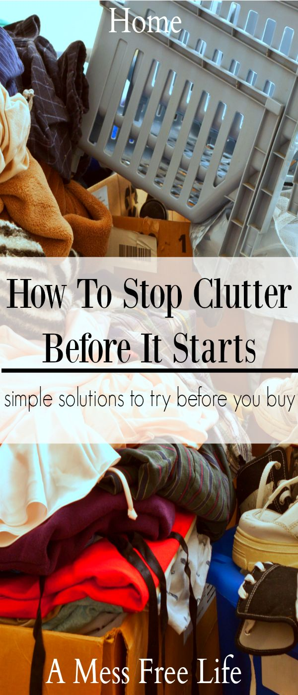 Tired of all the clutter in your home? Want to tidy your home? These strategies will help you declutter your space and stop the cycle of clutter. Stop Clutter | Become Clutter Free | Clean and Organize | Declutter