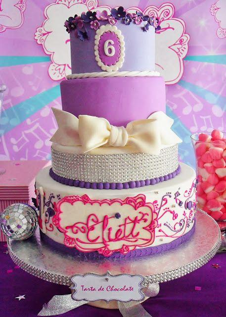 Deco de gateau violetta