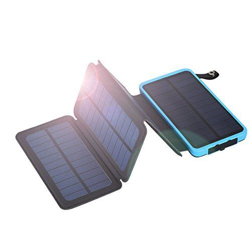 Floureon 10000mah Portable Foldable Solar Panel Solar Panel Charger Dual Usb Powerbank