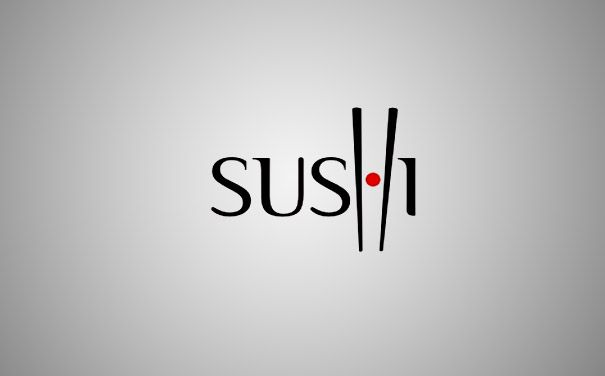"30 Clever Logos With Hidden Symbolism | Letter ""H"" looks like chopsticks picking a sushi. (Designer:Type08)"