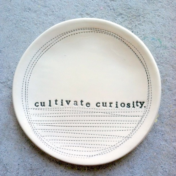 "5"" dish cultivate curiosity. MADE TO ORDER. $24.00, via Etsy."