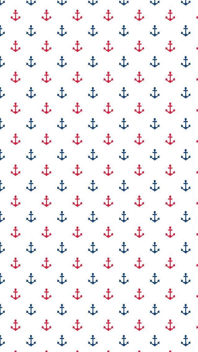 Anchor blue red