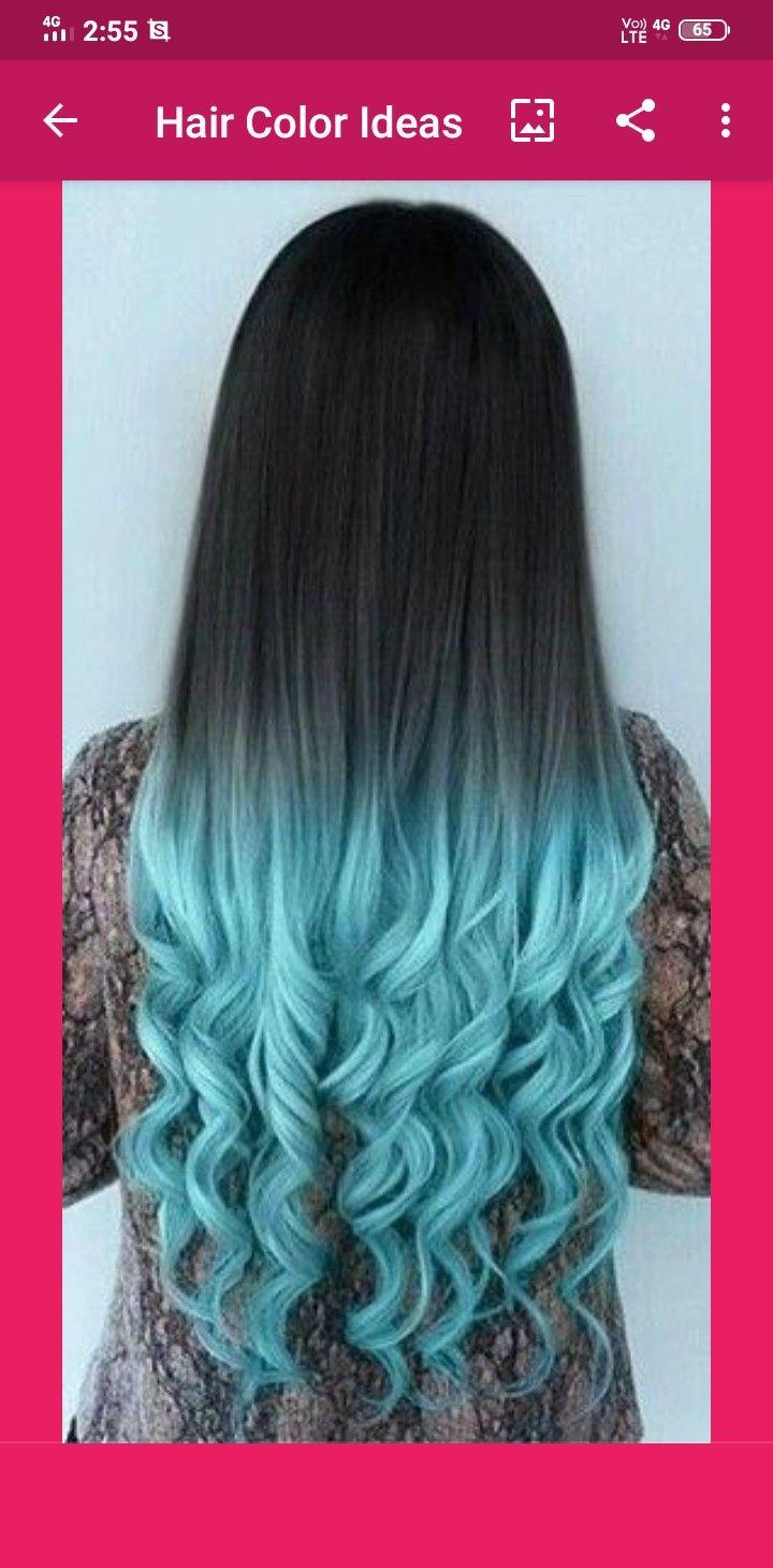 Pin By Alia Maisarah On Hair Girl In 2020 Blue Ombre Hair Ombre Hair Color Hair Color Highlights