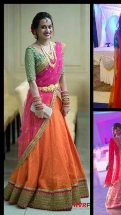 Pretty combination #Mrunalini Rao collections                                                                                                                                                                                 More
