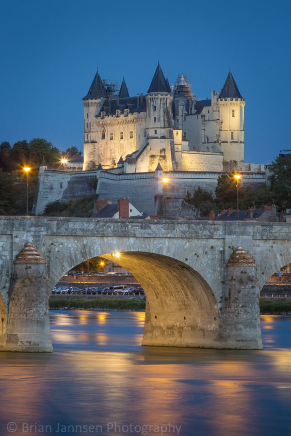Chateau Saumur (12th century), Maine-et-Loire, France. © Brian Jannsen Photography