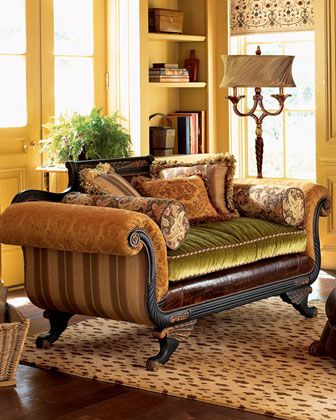 Collage Settee by Old Hickory Tannery at Horchow.com  {this site is making me feel all tingly!}