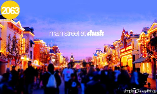 """""""You know this is one of my favorite times of the day here - just about sundown. I like to be around when the lights come on. It seems like a new kind of magic takes over in Disneyland after dark."""" - Walt Disney"""