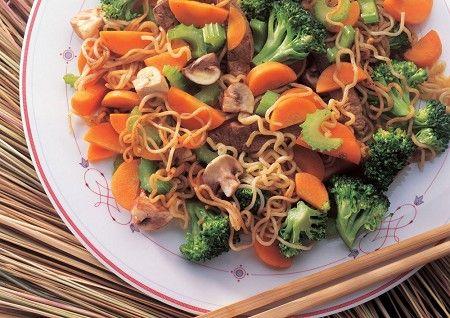 Vegetables and noodles