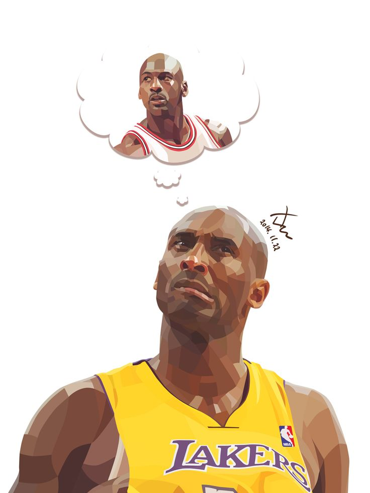 Bryant & Jordan. Traced by Photoshop. 15cm X 20cm