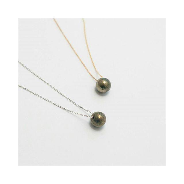 Pyrite ball necklace ➡ www.dawanda.pl/shop/mokave ➡ www.mokave.pakamera.pl
