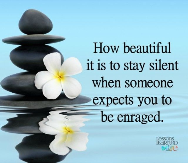 Lessons Learned in Life | To stay silent.