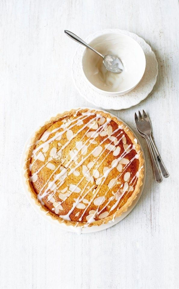 ... lighter bakewell tart ...