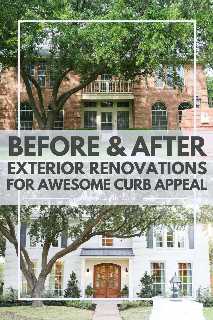 Fantastisch Inspiring Before And After Exterior Renovations For Improved Curb Appeal