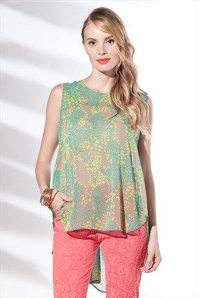 Zanzi - Fıstık Yeşili Bahar Bluz 6757 Trendyol da