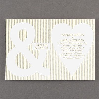 The Symbols On This White Wedding Invitation Say It All: Youu0027re Joining  Your Hearts Forever. Choose The Foil Color To Make It Shine.