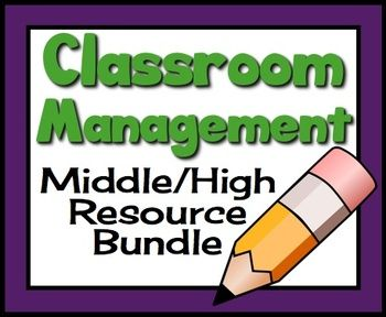 """Effective classroom management is one of the biggest challenges for many middle and high school teachers.  This resource has everything a teacher needs to set up effective routines, maintain accurate record keeping, and set up a positive classroom atmosphere.   Included in this 55 page bundle are the following resources:   <strong><span style=""""text-decoration:underline;"""">Classroom Management Essentials</span></strong>   - Classroom Management Essentials Summary: A summary of the most…"""