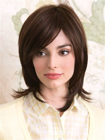 Summer Wig by Amore: Swooped fringe and round layers complement this modern, easy going style.