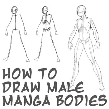 Drawing the human body has many approaches, especially in Manga / Anime where there are many different types of bodies that come in all shapes and sizes. Here is the most basic, easy and commonly used method for male Anime characters.
