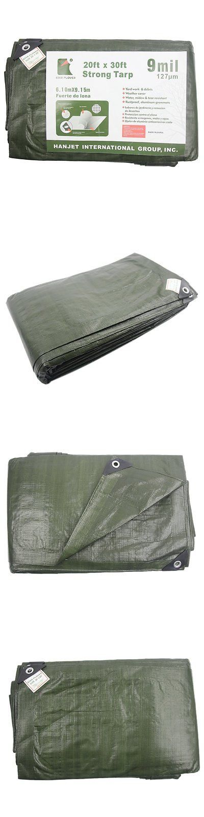 Tent and Canopy Accessories 36120: Hanjet 12 X 20 9-Mil Thick Green Camping Tarp Shelter Waterproof For Boat Pool -> BUY IT NOW ONLY: $46.29 on eBay!