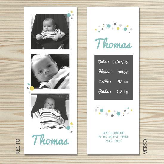 Tannilou - Faire-part naissance THOMAS