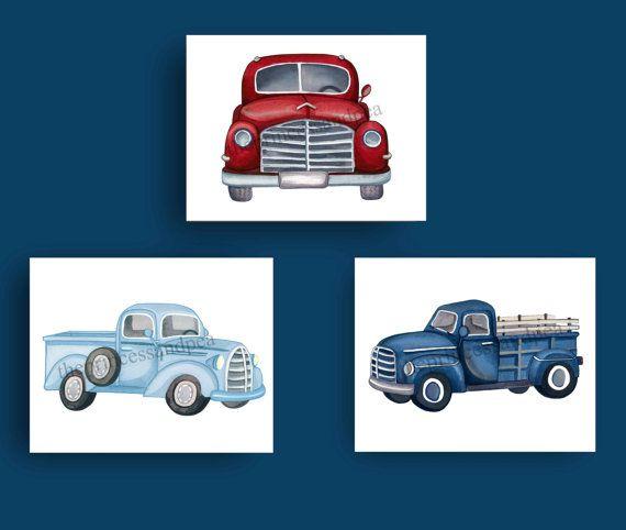 truck nursery art vintage truck art prints by theprincessandpea