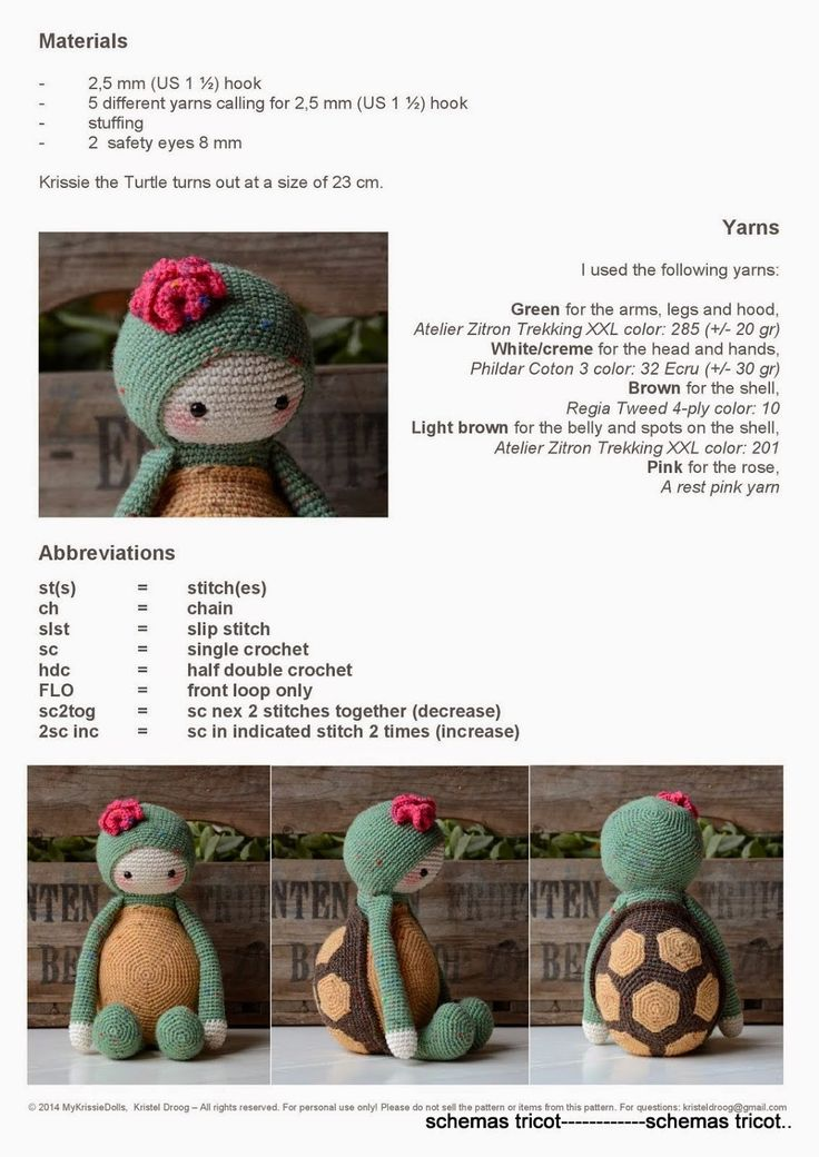 Turtle crochet pattern - Free