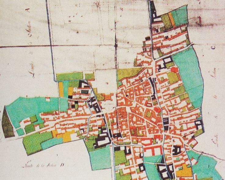 Filatoi di Racconigi evidenziati nel Catasto Napoleonico (1811-13)