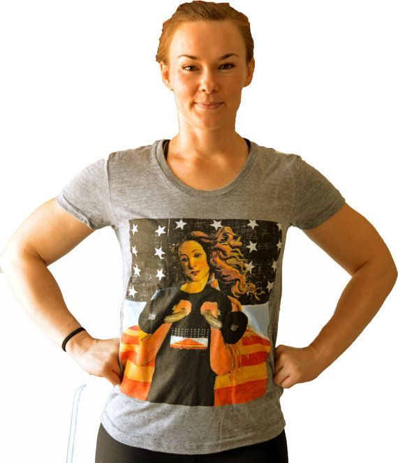 Birth of Venus and Her Kettlebells Shirt for Crossfit Women on Etsy, $30.00