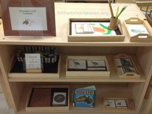 Learning About Australia: Geography Shelf- Trillium Montessori