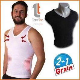 Vi presentiamo Tone Tee, il nuovo rivoluzionario indumento che modella il corpo, specificamente concepito per gli uomini,  uomini che vogliono sembrare più magri, in forma e snelli.  Con Tone Tee otterrete risultati immediati.