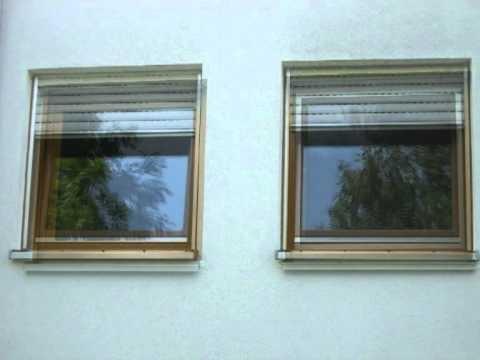 Alte Holzfenster und neue Kunststofffenster ----------- old windows of wood and new windows of pvc