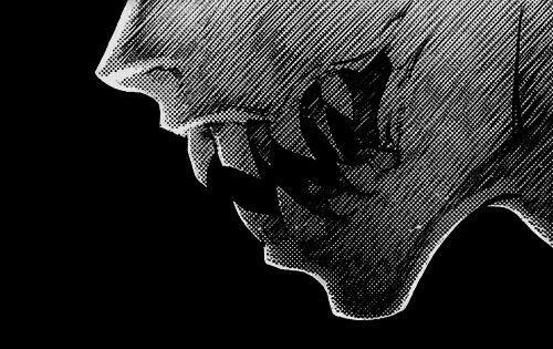 Fangs, sharp teeth, demon, monster; Anime