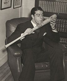 "Joe DiMaggio ~ At his death, the New York Times called DiMaggio's 1941 56-game hitting streak ""perhaps the most enduring record in sports""."