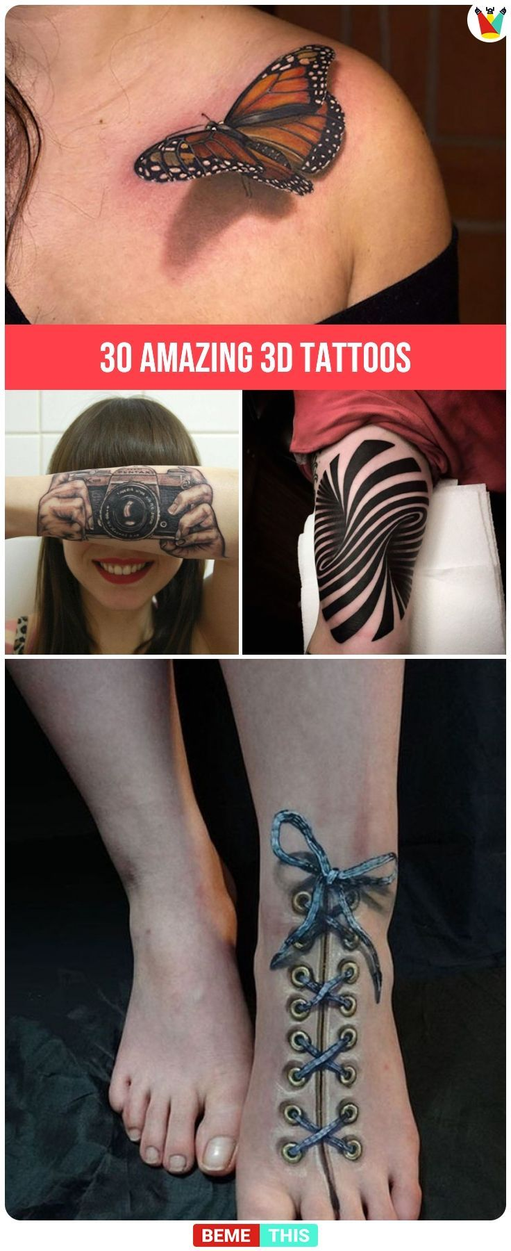 32 Amazing 3d Tattoos That Turn Human Body Into A Masterpiece