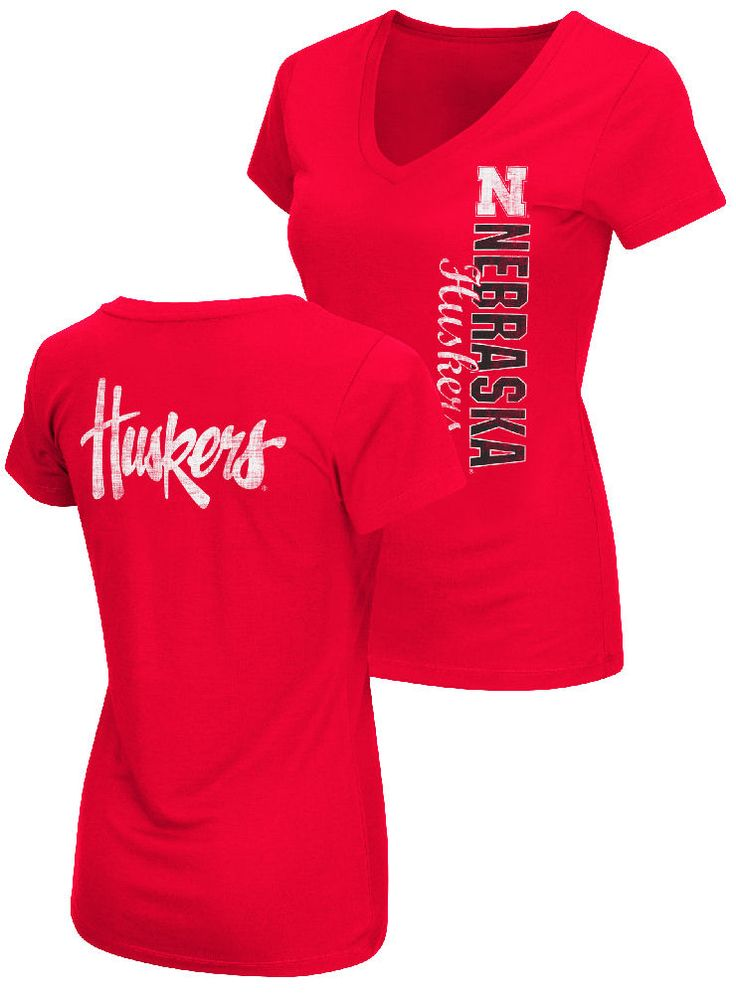Ladies Nebraska Cornhuskers 2 Sided Compulsory Short Sleeve Tee Shirt $24.95