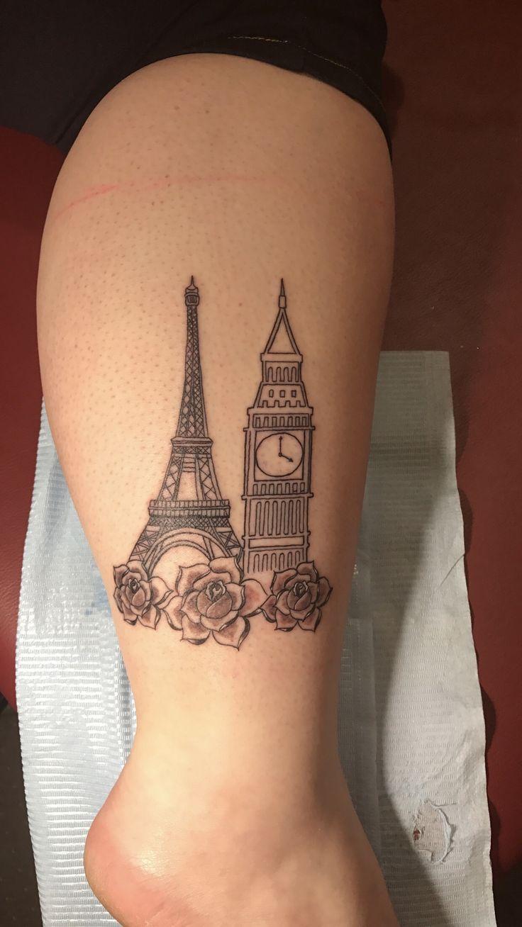 Nice name tattoo designs -  Eiffeltower Tattoo Bigben Europe Eiffel Tower Big Ben Europe London England Paris France