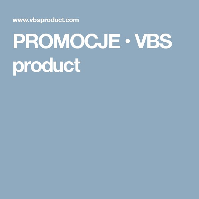 PROMOCJE • VBS product