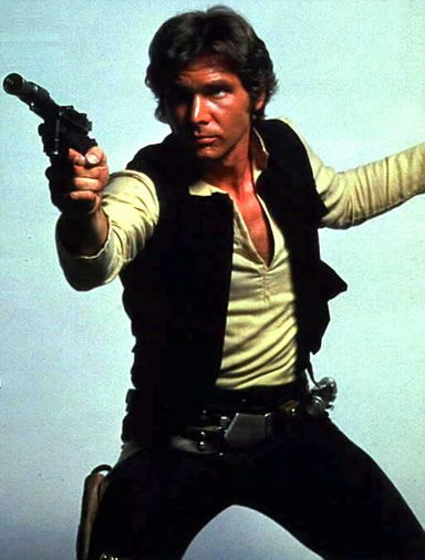 "Han Solo!!! aka (young) Harrison Ford aka the ""original"" bad boy!"