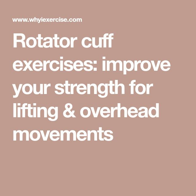 Rotator cuff exercises: improve your strength for lifting & overhead movements