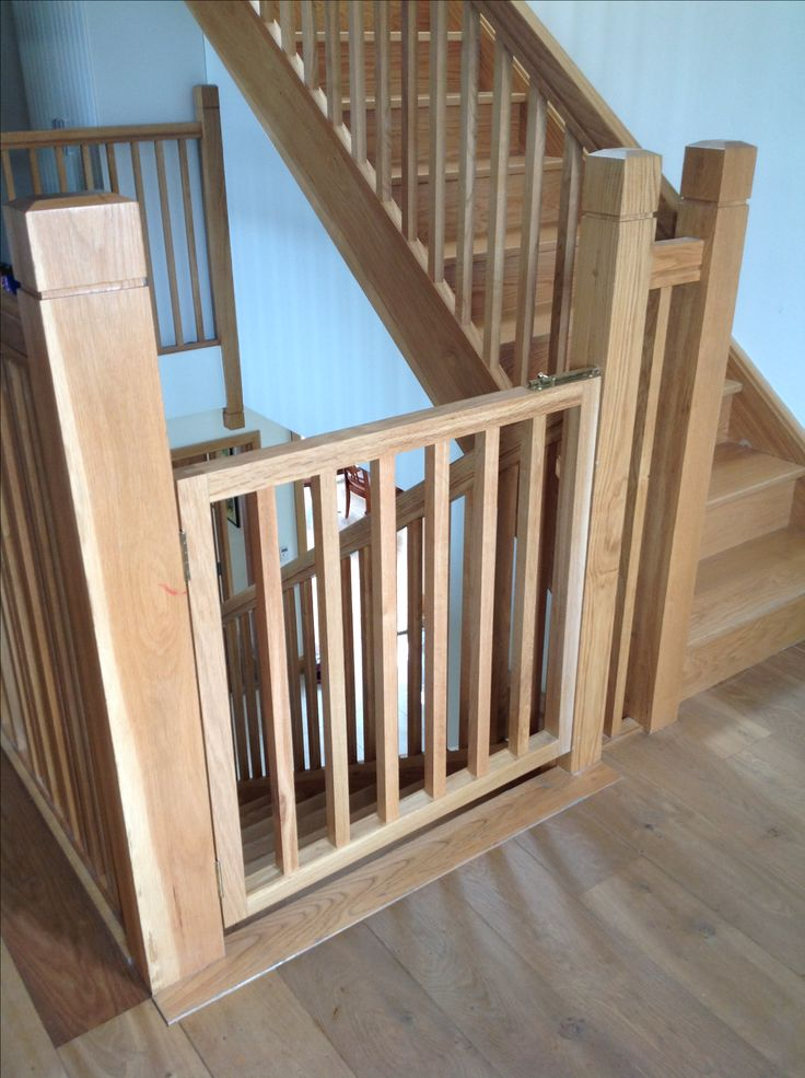 Baby Stairs Gate Made And Fitted By Burke Joinery In Kildare. Stylish And  Practical As