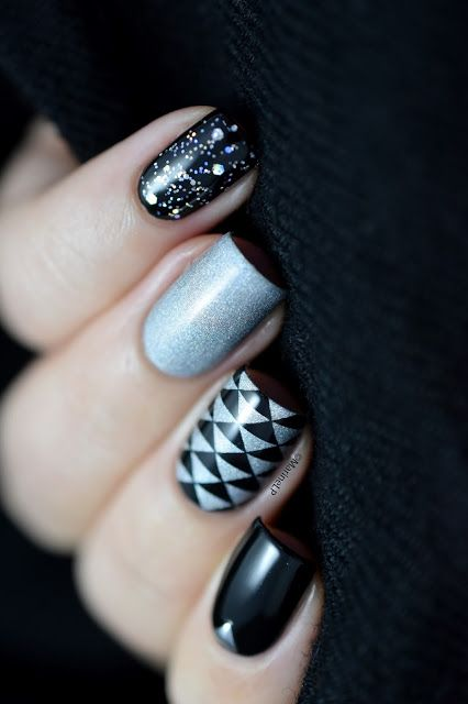 3,2,1, Happy New Year ! - mix & match nails