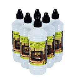 Bio Ethanol Fuel. A smokless and odourless fuel which can be used indoors and outside. Will leave no soot or ash behind after burning. One litre bottles. Special price when you order six.