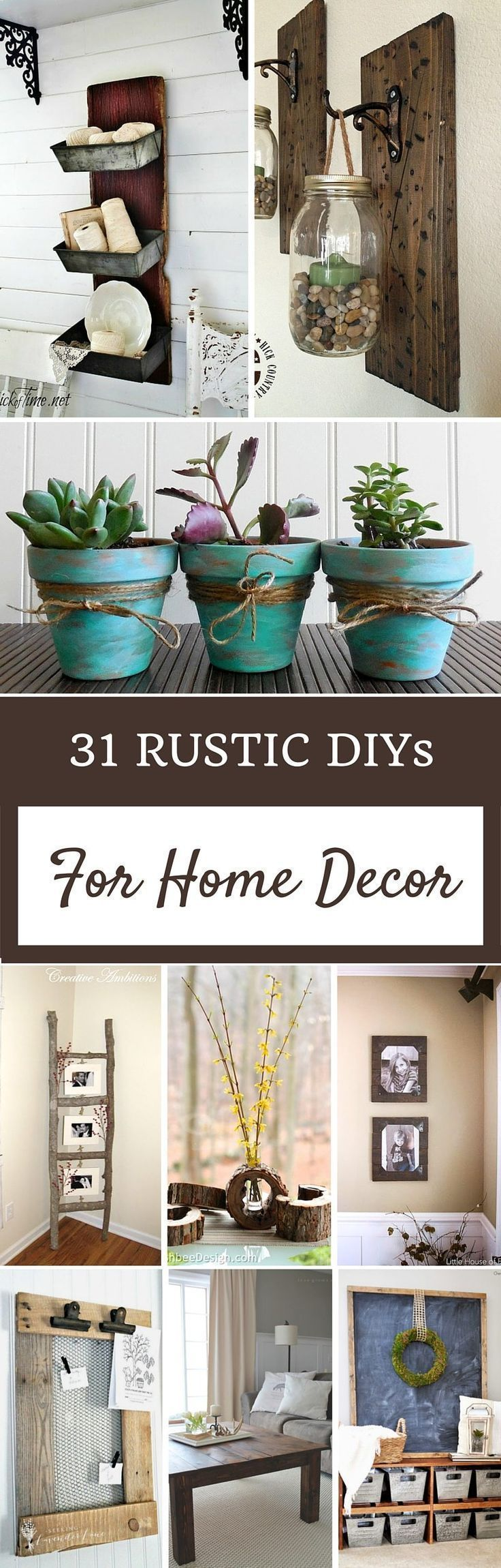 31 Rustic DIY Home Decor Projects Create these farmhouse cottage do it yourself projects