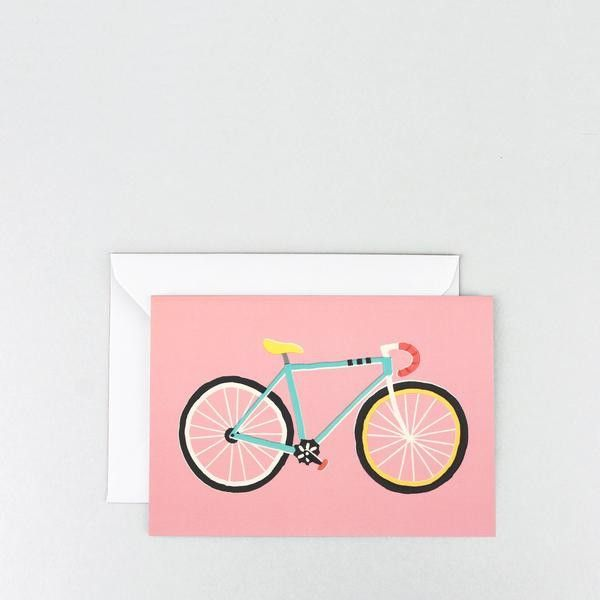 Wrap: City Bike Greetings Card from Kira Kids