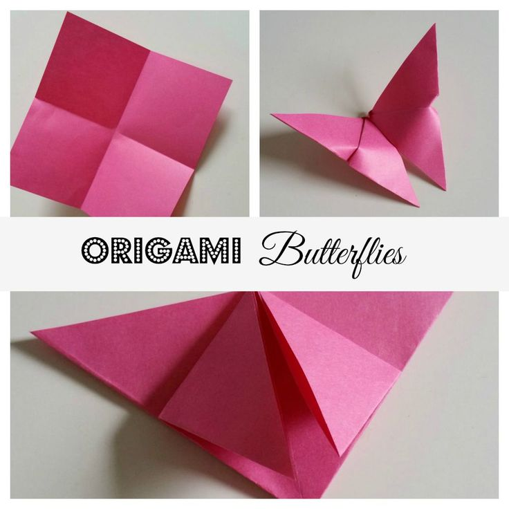 Origami Butterflies that you can make in 5 minutes, photo tutorial