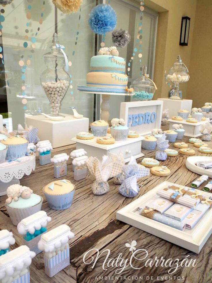 Little lamb baby shower baby shower party ideas shower for Dekoration fur babyparty